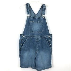 GAP jean shortalls overalls shorts denim Sz L